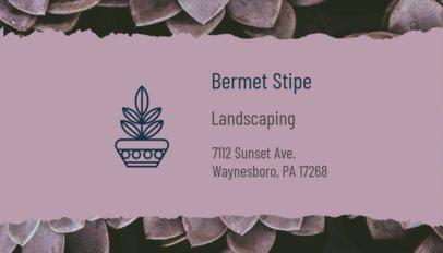 Pretty Landscaping Business Card Generator 650b