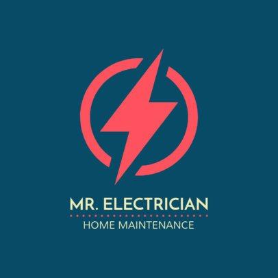 Electric Home Maintenance Logo Template 1473c