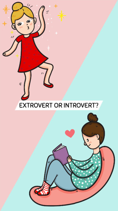 Extrovert or Introvert Instagram Story Maker 587e