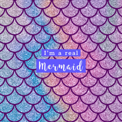 Popsocket Grip Template with Mermaid Graphics 677
