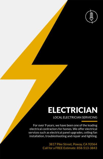 Local Electrician Flyer Design Template 721