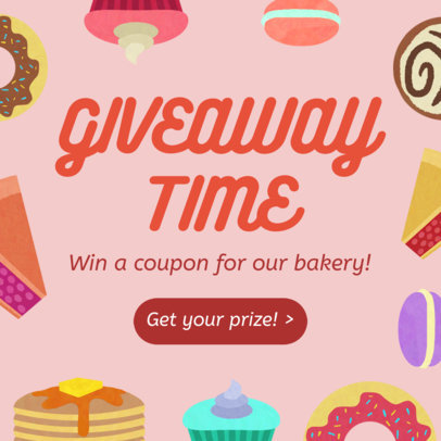 Bakery Giveaway Post Maker for Instagram 628