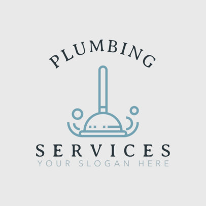 Plumbing Logo Maker with Professional Plumbing Graphics 1501
