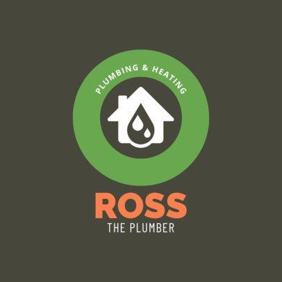 Plumbing and Heating Logo Maker 1440c
