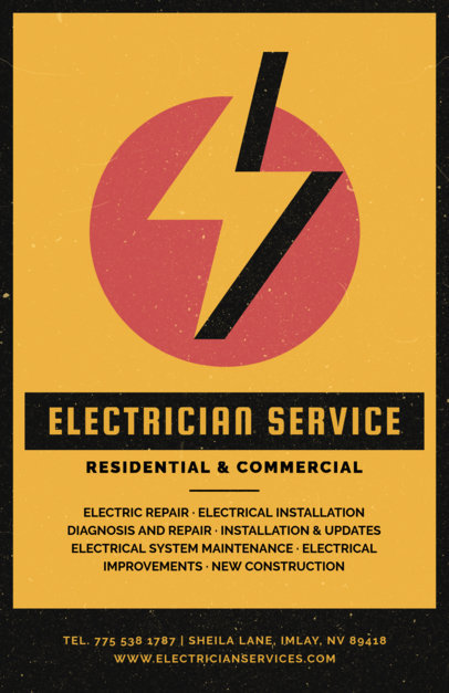 placeit flyer creator for expert electrician