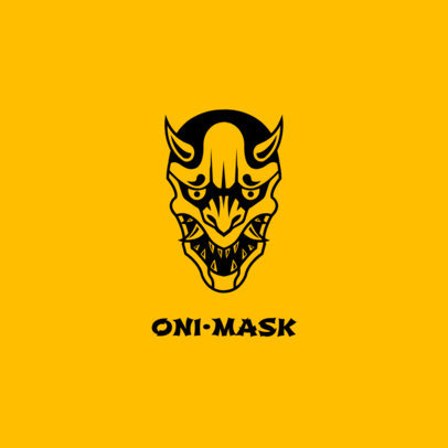 PopSocket Template with an Oni Mask 687a