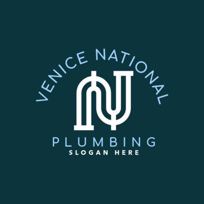 Plumbing Logo Maker with Pipe Graphics 1501b