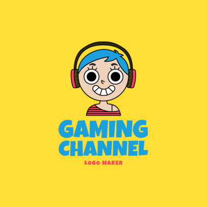 Avatar Logo Maker for a Gaming Channel 1458b