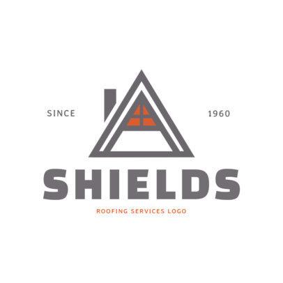 Roofing Services Online Logo Maker 1481
