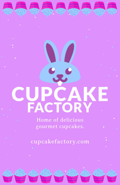 Cupcake Factory Flyer Design Template 496a