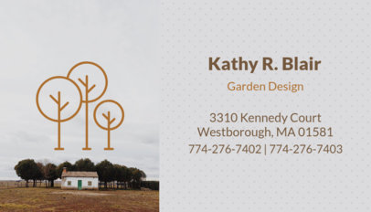 Simple Garden Design Business Card Maker 658c
