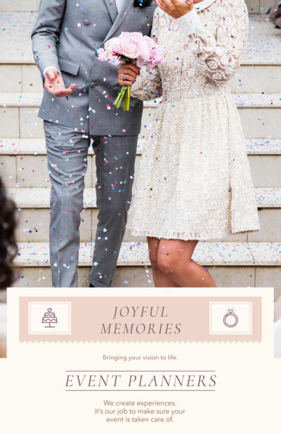 placeit event planner flyer template for a wedding planner