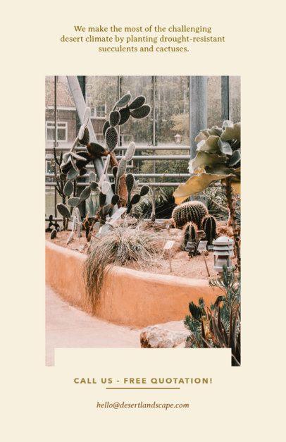 Desert Landscaping Flyer Template 698e