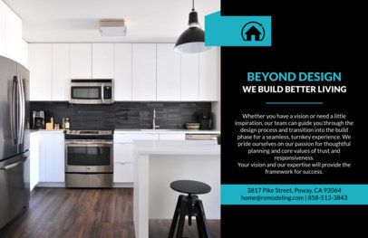 Horizontal Flyer Design Template for Remodeling Services 722