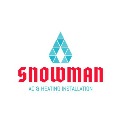 AC and Heating Installation Logo Maker 1500
