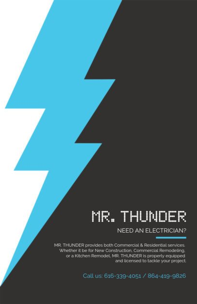 Flyer Maker for Electricians with Bold Colors 721a