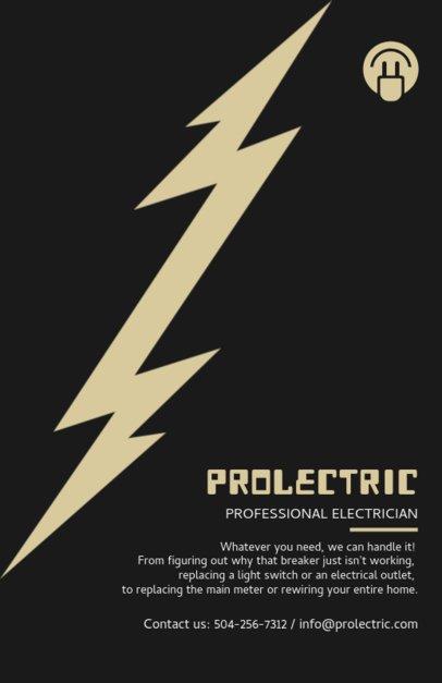 Professional Electrician Flyer Design Template 721d