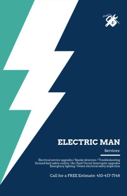 Electrician Services Online Flyer Maker 721e