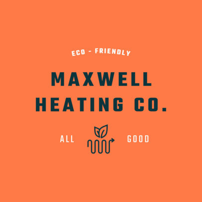 Eco-Friendly Heating Company Logo Maker 1503d