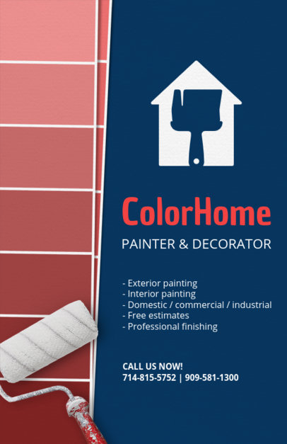 Online Flyer Maker for a Painting and Decoration Business 720b