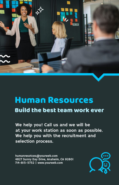 Human Resources Department Flyer Maker 713d