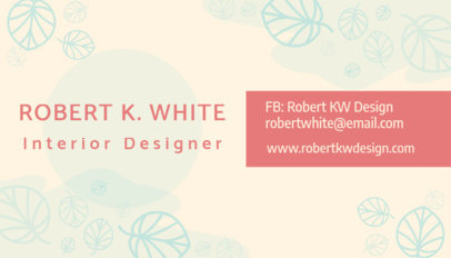 Interior Designer Business Card Maker 648a
