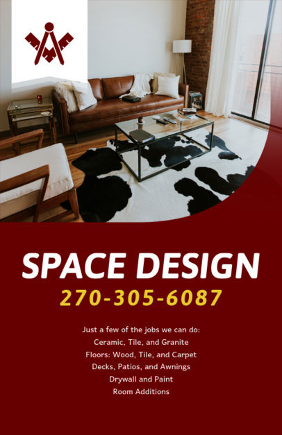 Remodel Design Services Flyer Maker 714c