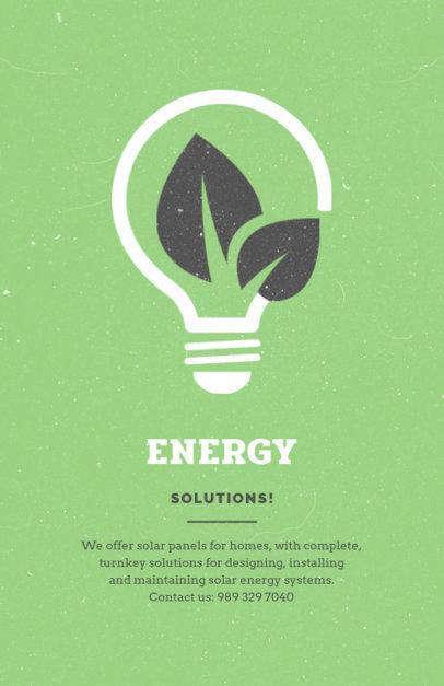 Energy Solutions Company Flyer Design Maker 711c