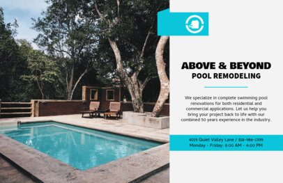 Horizontal Flyer Maker for Pool Remodel Service 722b