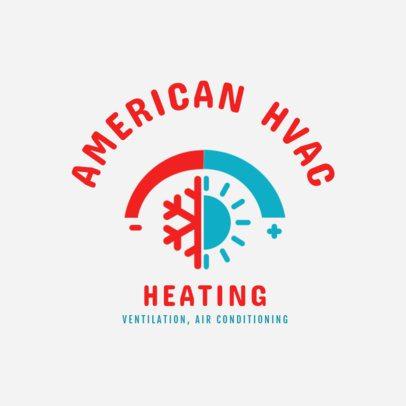 Heating Installation Service Logo Maker 1505d