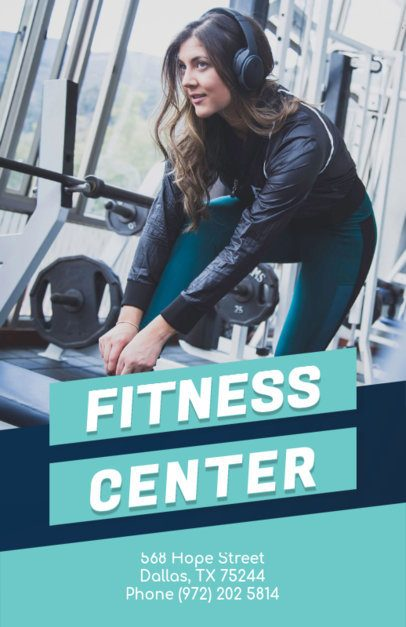 Flyer Maker for a Fitness Center 696b