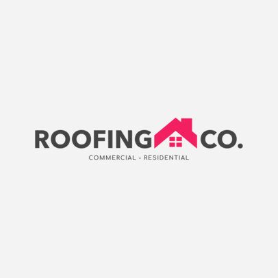 Commercial and Residential Roofing Logo Maker 1483e