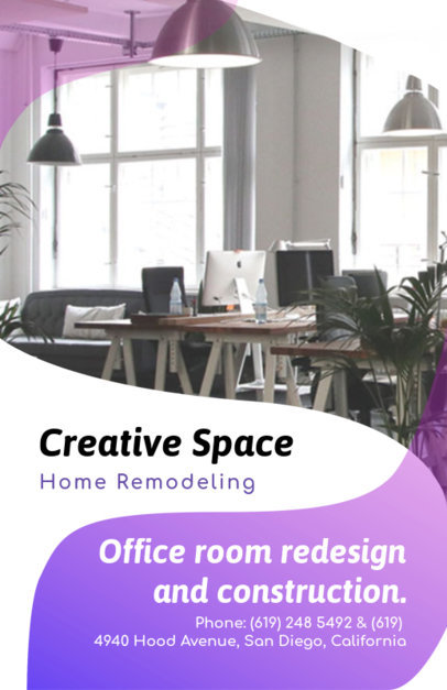Creative Home Remodeling Flyer Template 732a
