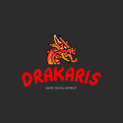 Gaming Logo Template with a Dragon Icon 1463a