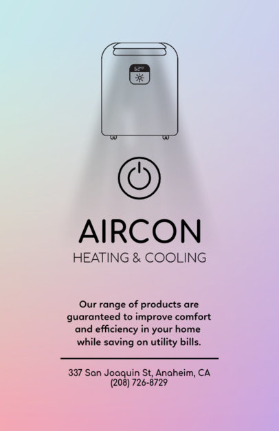 Air Conditioning Company Flyer Template 709d