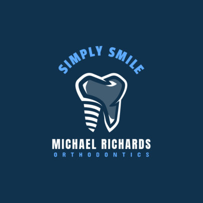 Simple Dentistry Logo Design Template 1488e