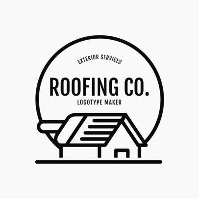 Logo Template for a Roofing Company 1484