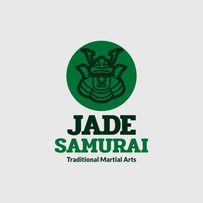 Samurai Logo Maker for Martial Arts Classes 1292d