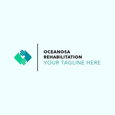 Minimalist Rehab Center Logo Maker 1504