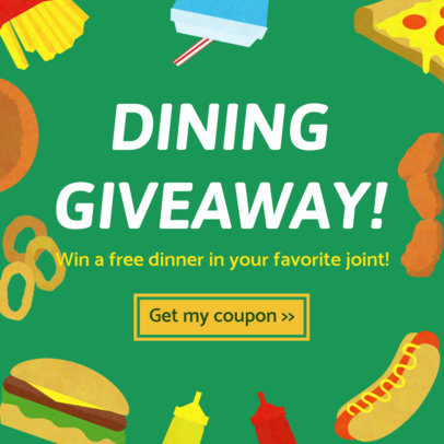 Dinner Giveaway Insta Post Maker 628e