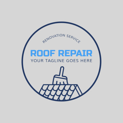 Logo Maker for a Roof Repair Service 1484c