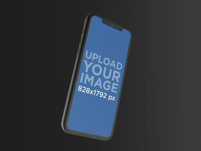 Render Mockup of an iPhone XR Floating Over a Surface 23123