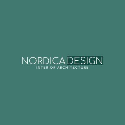 Logo Maker for Interior Architecture 1263a