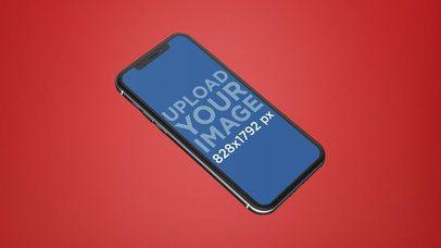 Black iPhone XR Mockup Floating Angled 23137