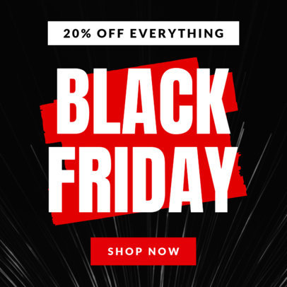 20% Discount Ad Maker for a Black Friday Sale 747