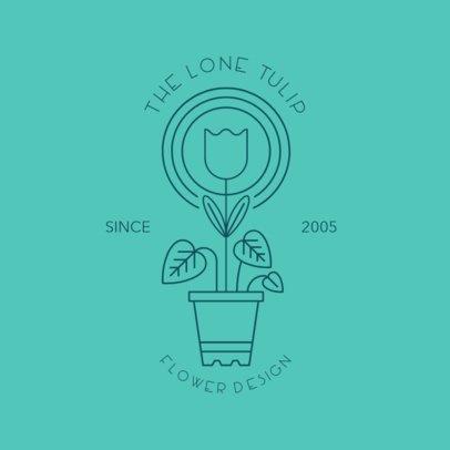 Flower Design Logo Generator 1269c