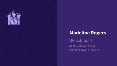 Business Card Template for HR Solutions Company 515a