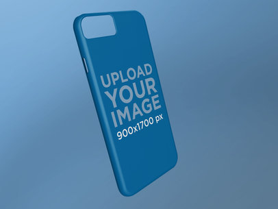 Phone Case Render Mockup Floating Over a Surface 23147