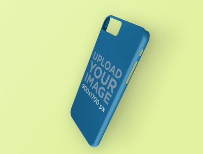 Render Mockup of a Phone Case Leaning on a Surface 23146