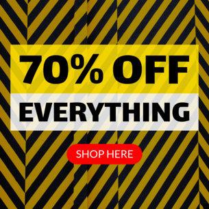 Ad Banner Template for Huge Online Deals 748a